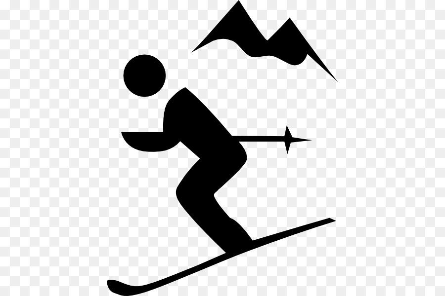 skier silhouette clipart #5