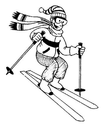 Skiing clip art.