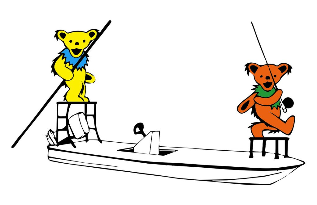 """Limited Edition Bear Skiff 6"""" Decals (The Original)."""
