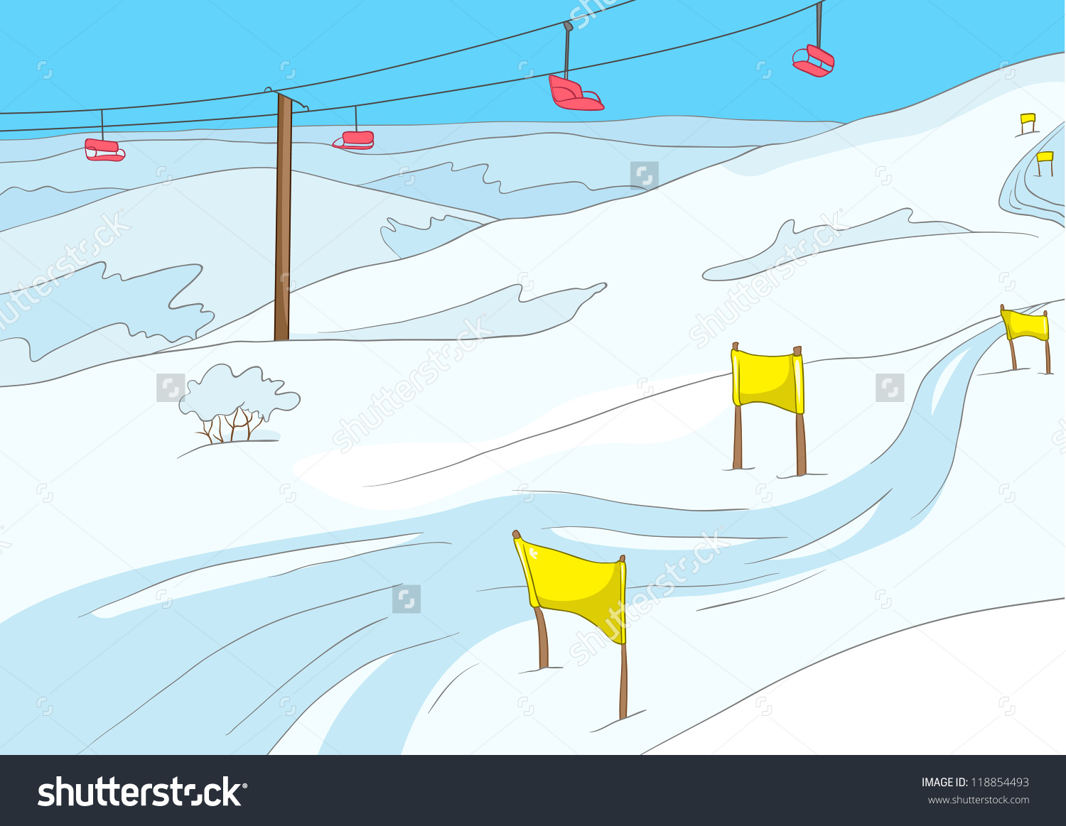Showing post & media for Cartoon ski mountain clip art.