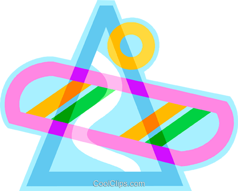 snowboard with ski hill design Royalty Free Vector Clip Art.