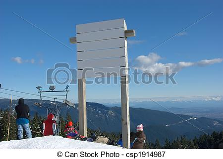 Picture of Ski Hill Sign.