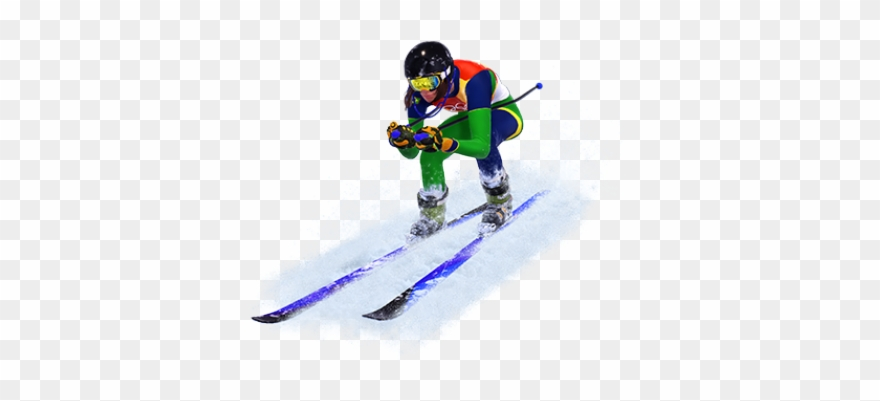 Ski Clipart Winter Olympic Sports.