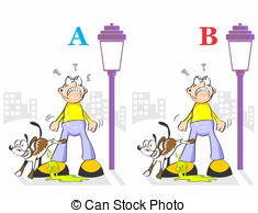 Vector Clip Art of Spot the Differences Skill Game.