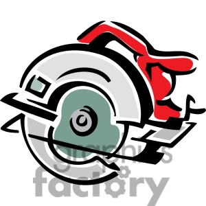 Clipart saw and table.