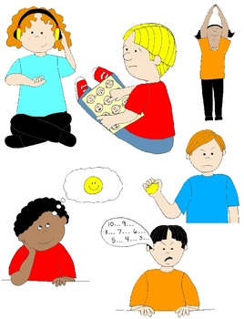 Kids in Action: Social Skills and Pragmatic Language Visuals 3 Clip Art 48  PNGs.