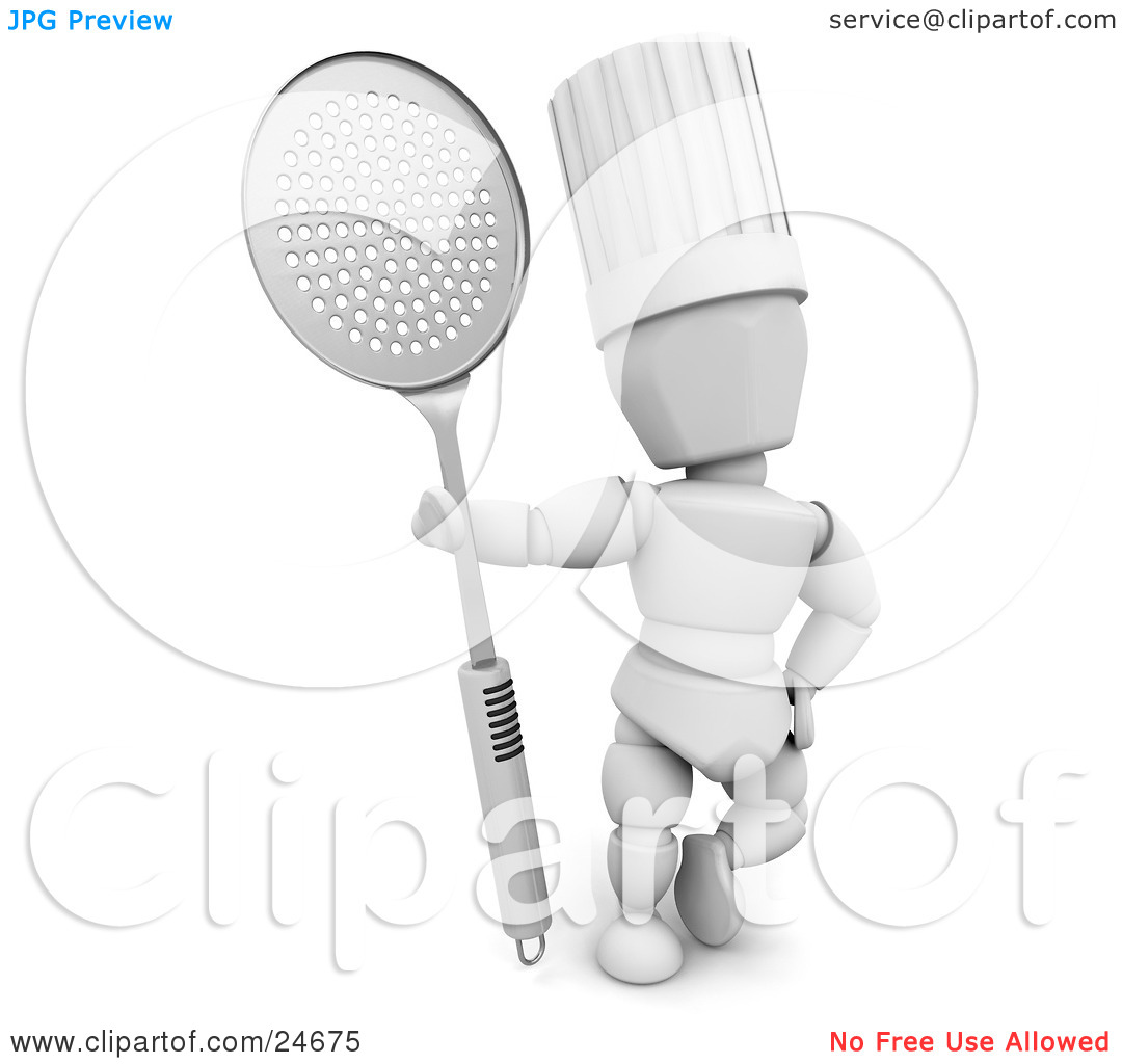 Clipart Illustration of a White Character In A Chef's Hat.
