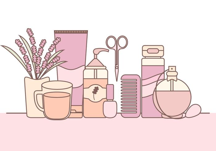 Vector Illustration of Skin Care Products.