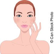Vector Clipart of beautiful woman's skin care csp22365304.