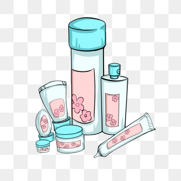 Skin Care Products PNG Images.
