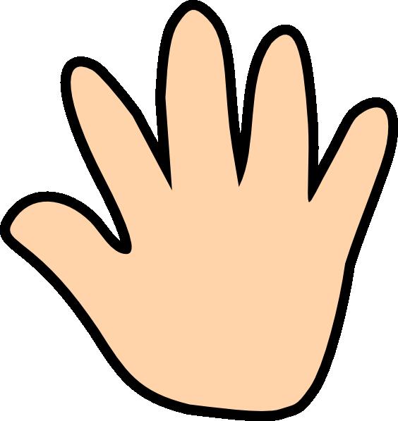 Skin Color Hand Print Clip Art at Clker.com.