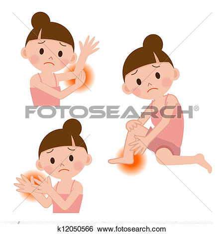 Stock Illustration of suffer from skin irritation k12864189.