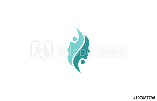 beauty face skin care logo.