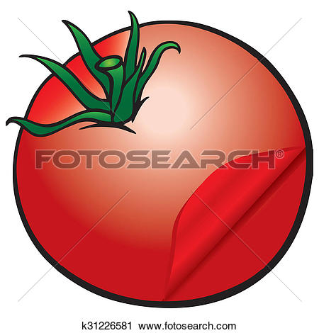 Clipart of Tomato with skinning k31226581.