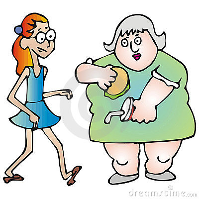 Clip Art Of Fat And Skinny Clipart.