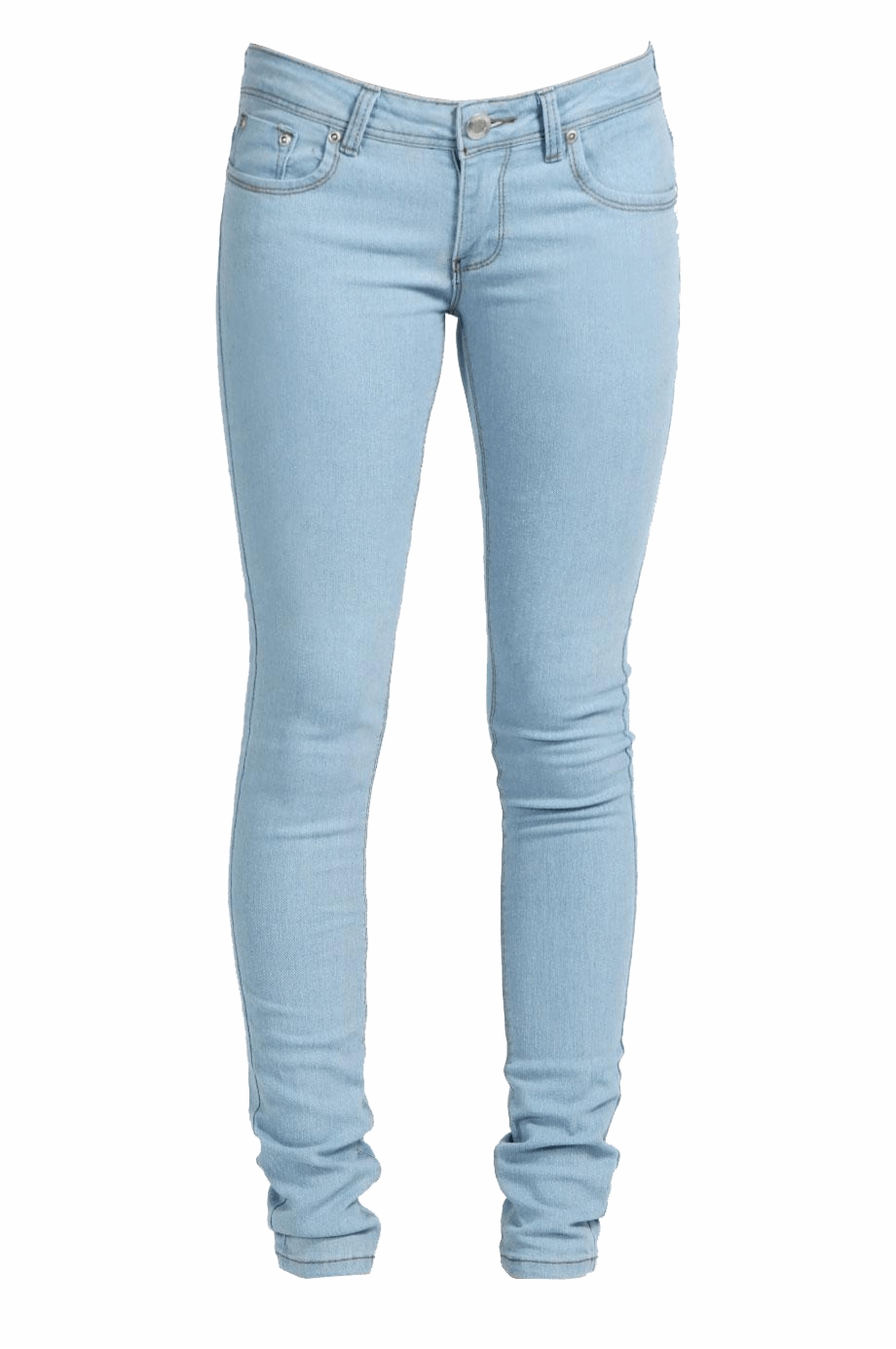 Light Blue Denim Jeans Transparent Background Clothing.