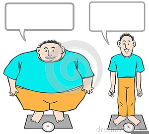 Fat To Skinny Clipart.