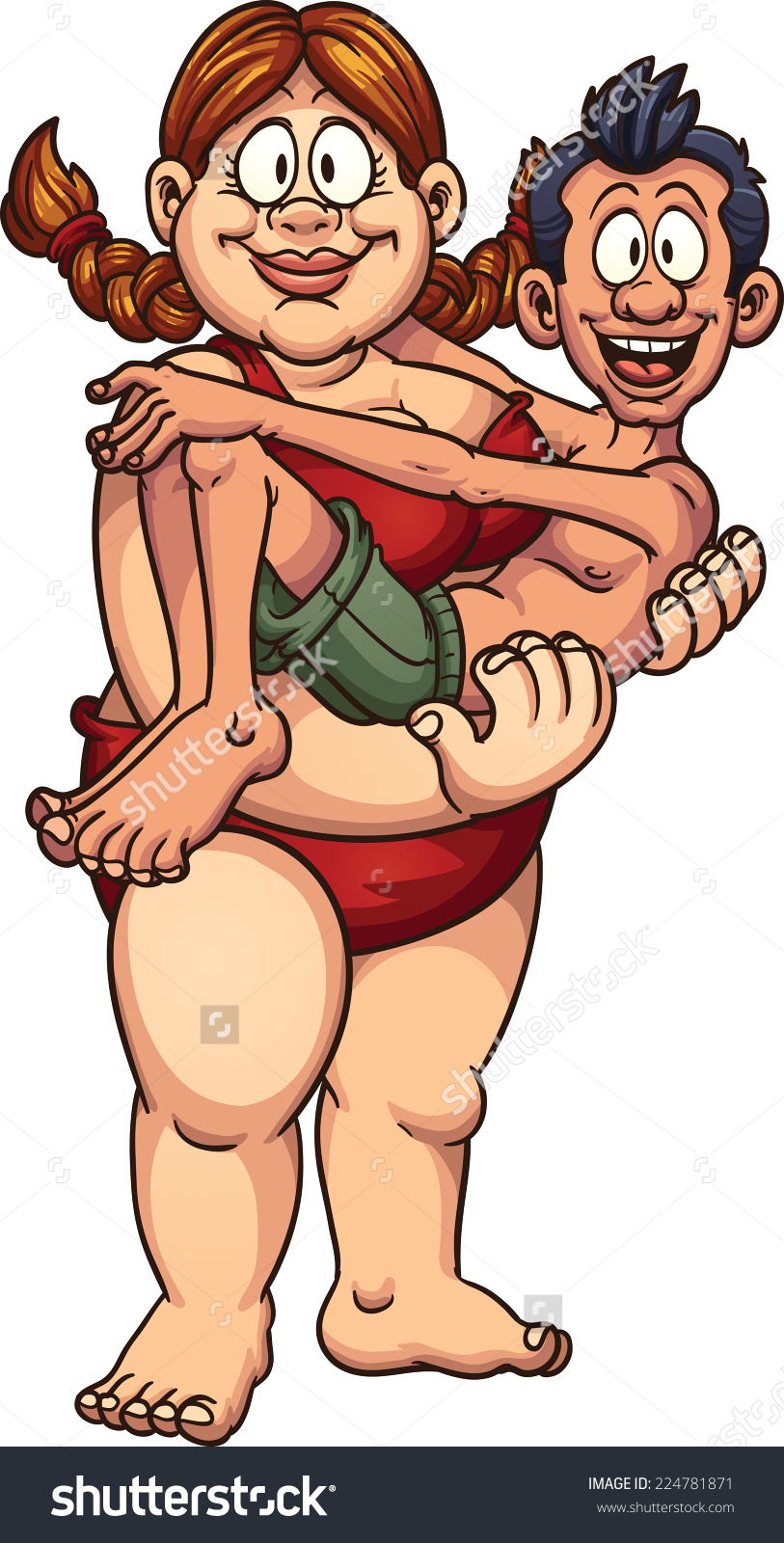 Skinny Woman And Fat Woman Clipart.