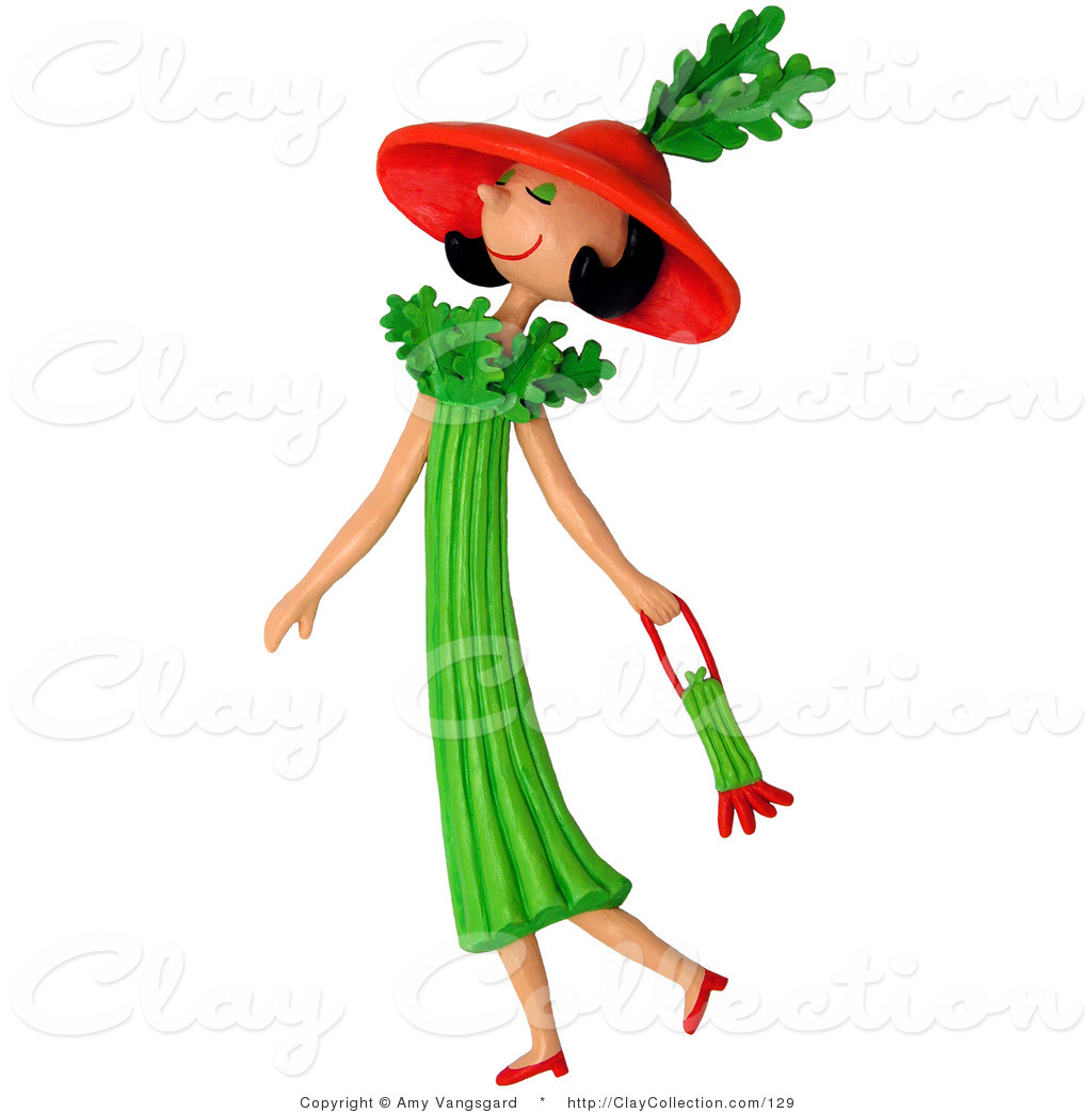 Skinny Woman Clipart.