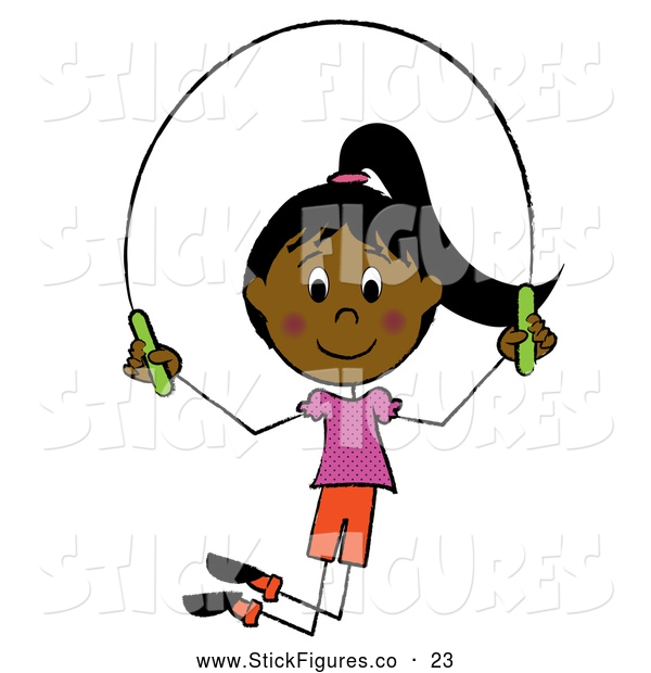 Girls Jumping Rope Clipart#1936444.