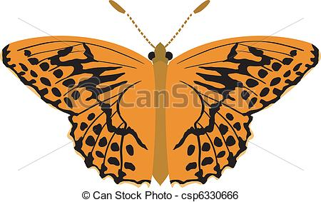 Clip Art Vector of butterfly.