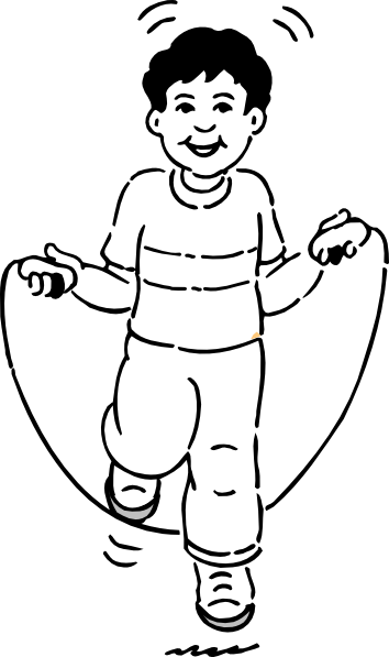 Jump Rope Black And White Clipart.