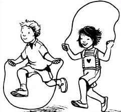 Jump Rope Text Clipart.