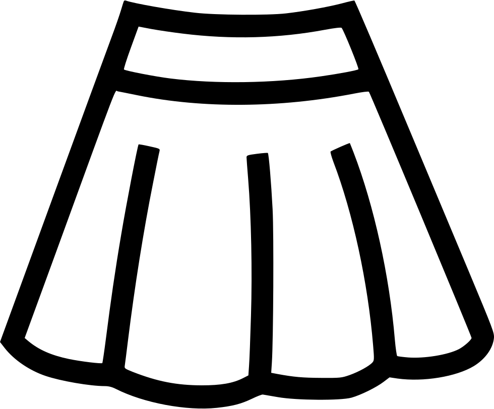 Skirt clipart black and white clipart images gallery for.