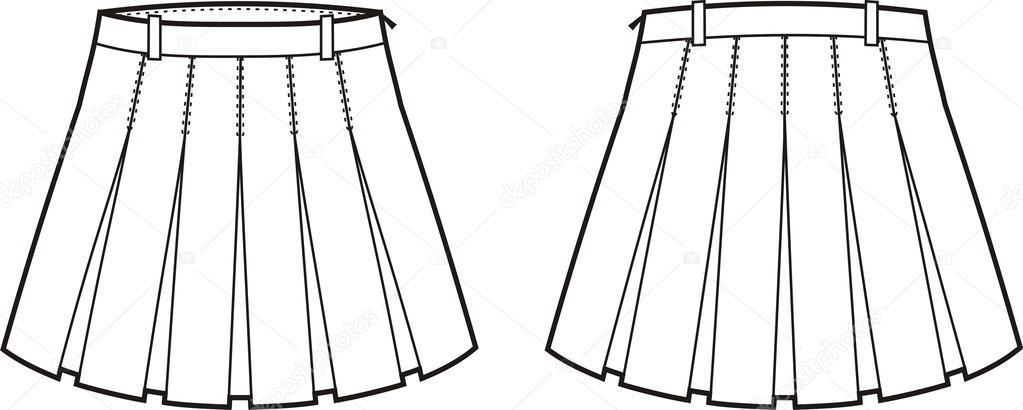 Skirt black and white clipart 6 » Clipart Portal.