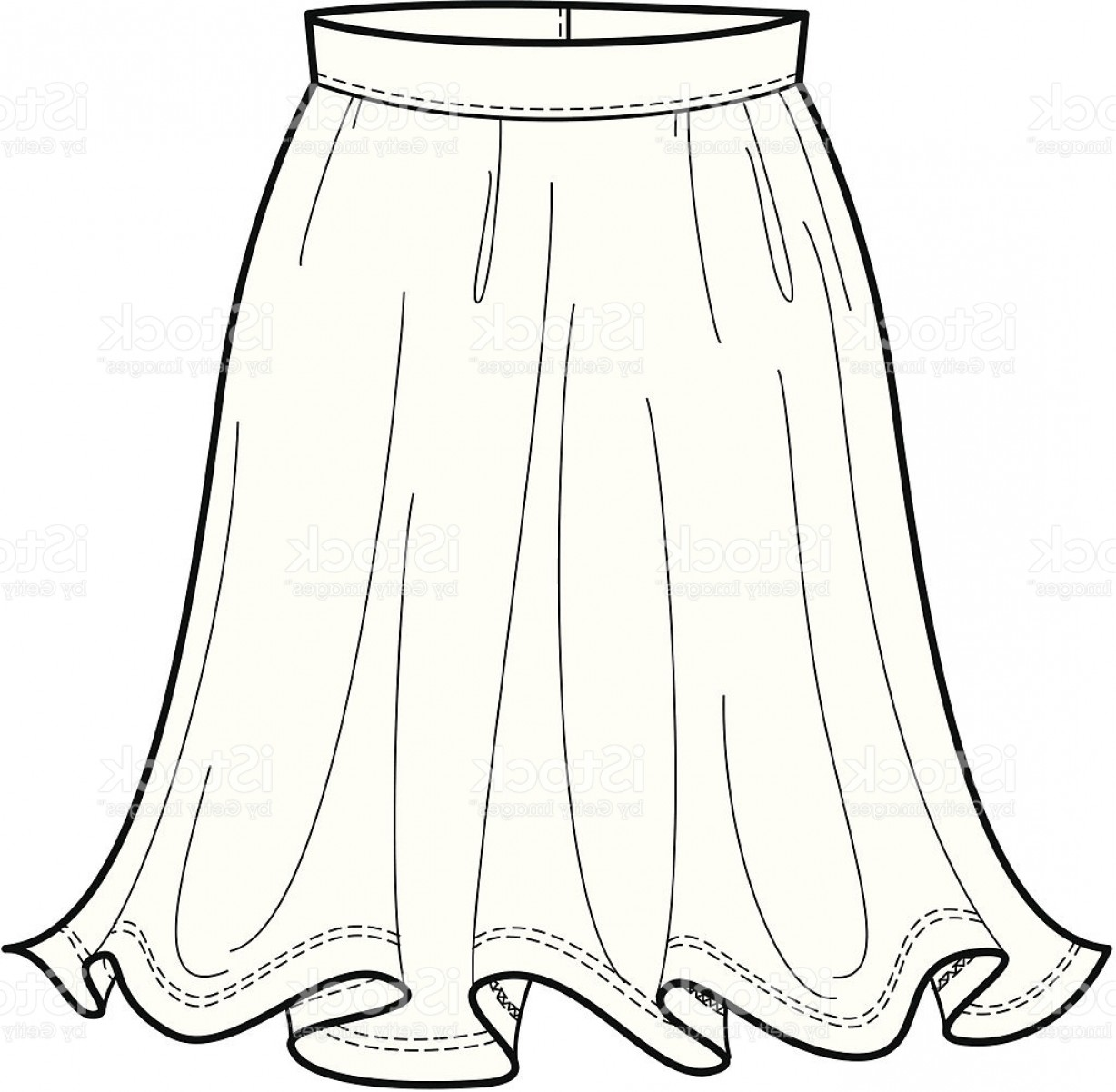 Fashion Illustration Of A Flowing Skirt Gm.