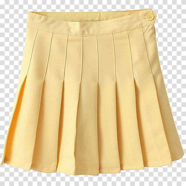 AESTHETIC, yellow pleated skirt transparent background PNG.