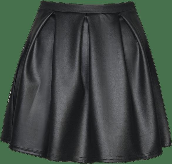 Black Skirt transparent background.