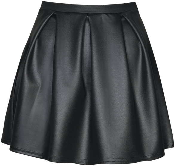 Skirt Black Silk transparent PNG.