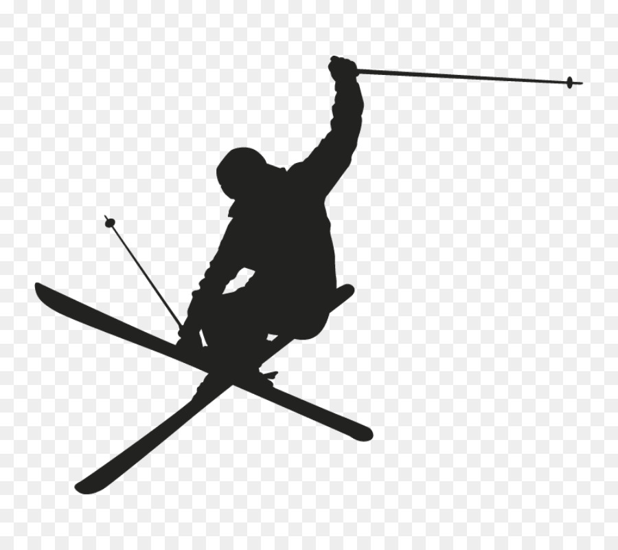 Skiing Clip art Silhouette Wall decal.