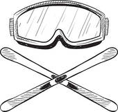 Skis Clip Art EPS Images. 11,321 skis clipart vector illustrations.