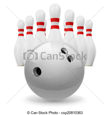 Clip Art Vector of Skittles with ball.