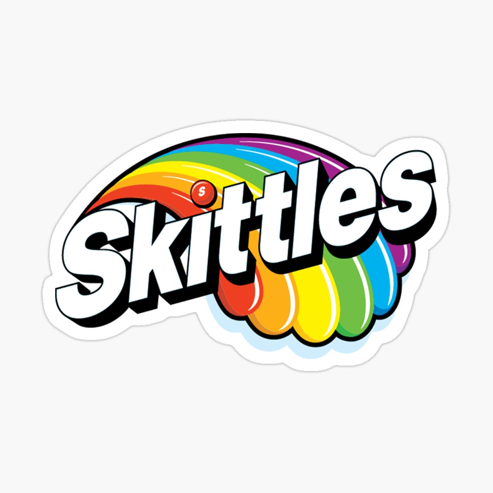 Skittles Logo Sticker in 2019.