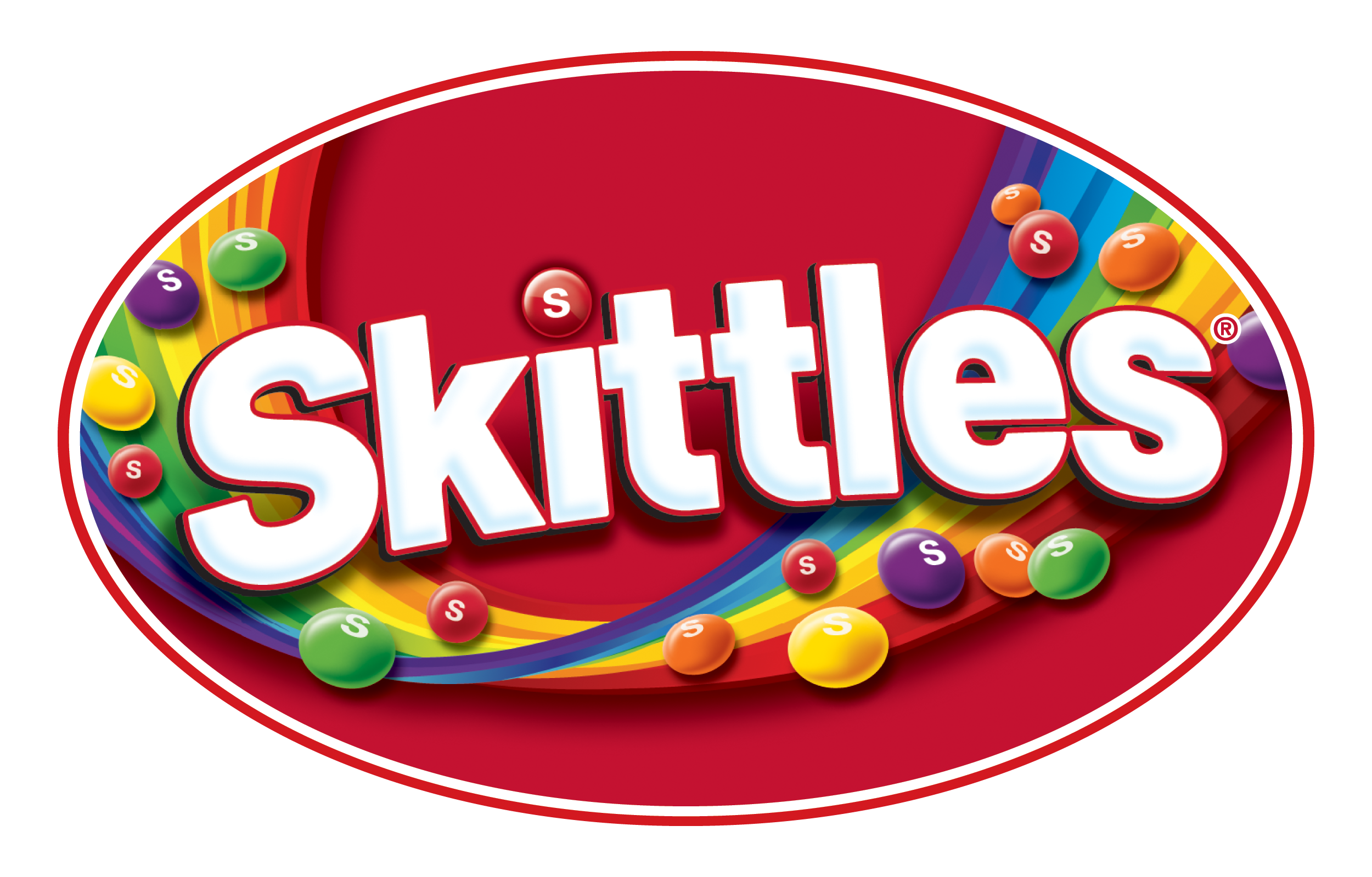 Meaning Skittles logo and symbol.
