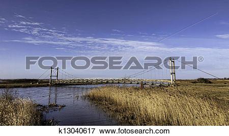 Picture of King Hans bridge near Skjern, Denmark k13040617.