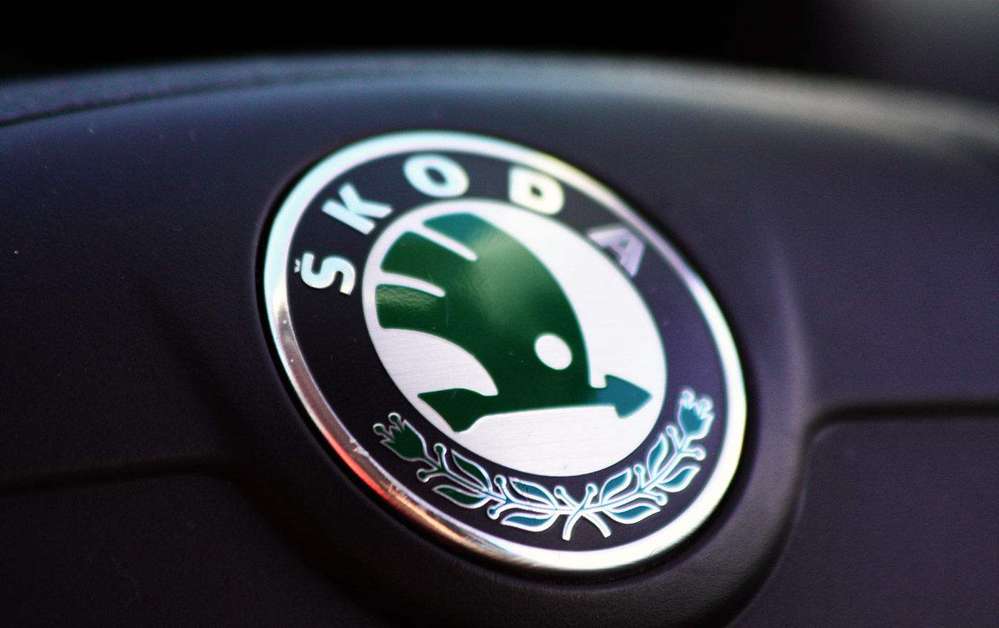 Evolution of the SKODA logo.