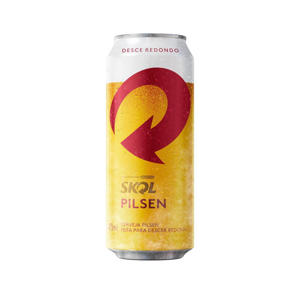 Cerveja SKOL Lata 473ml.