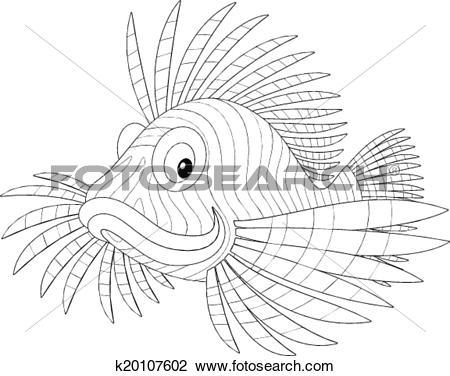 Clipart of scorpion fish k20107602.