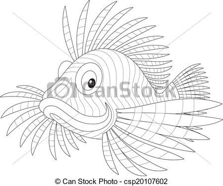 Vector Clipart of scorpion fish.