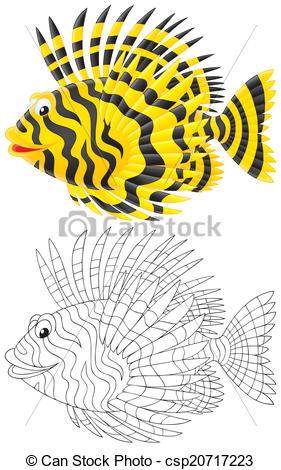 Clip Art of Scorpion fish.