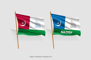 SALMAN AV: Samastha & SKSSF Flag design.