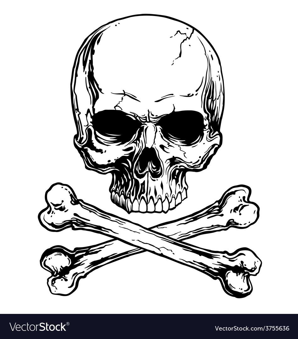 Skull and crossbones.