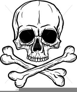 Large Skull Crossbones Clipart.