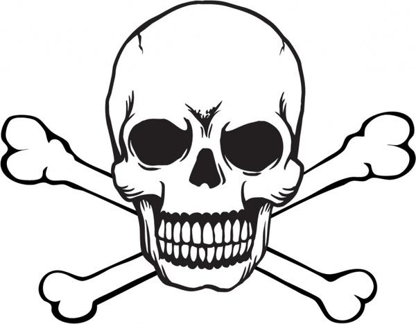Skull and Crossbones Free vector in Adobe Illustrator ai.
