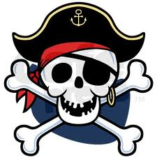 Pirate kids skull and crossbone clipart.