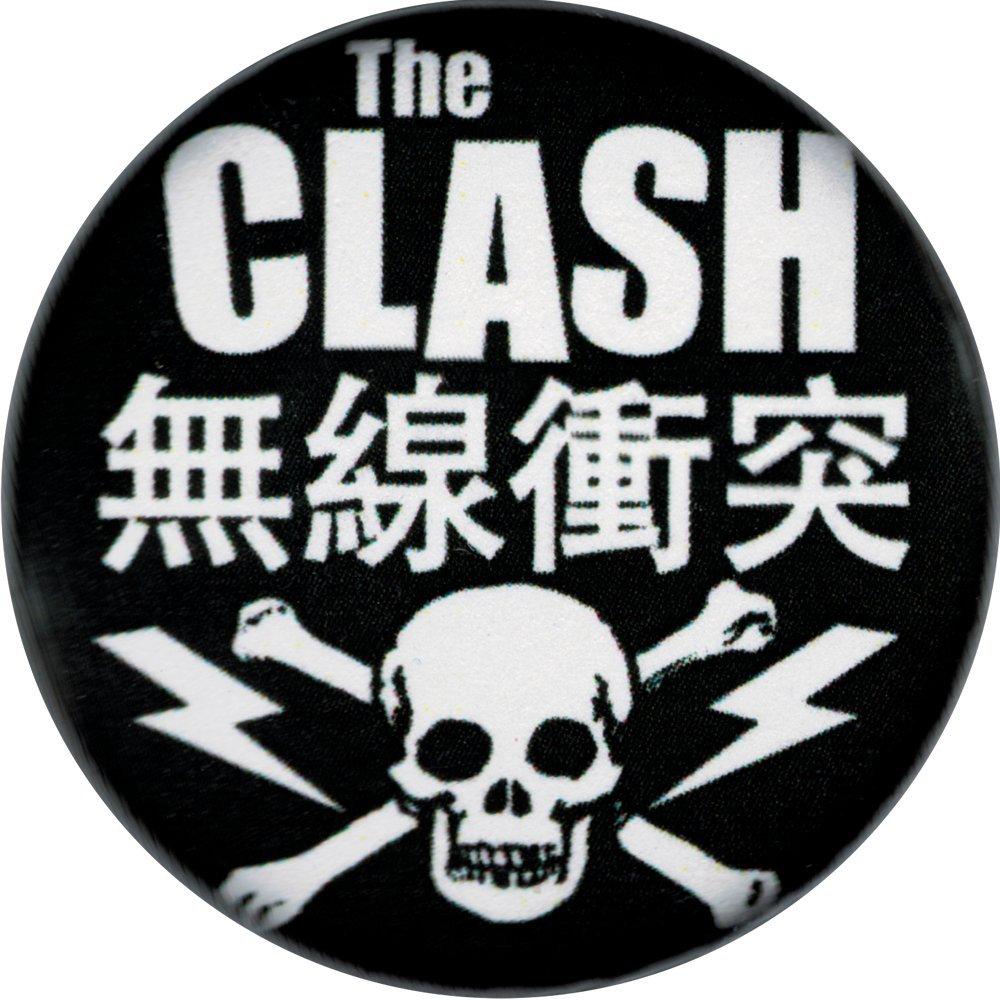 Amazon.com: The Clash Kanji with Skull & Crossbones Logo.